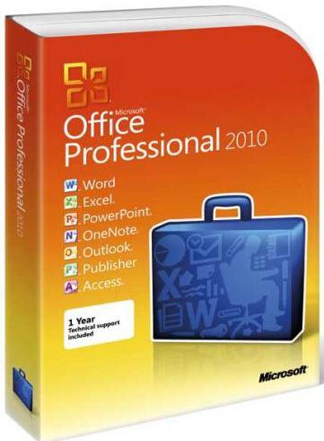 Microsoft Corporation Microsoft Office Профессиональный 2010 (электронная лицензия)