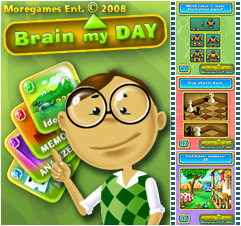 MoreGames Entertainment Brain My Day