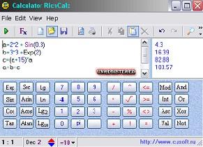Программируемый калькулятор RichCalc 1.0.7 (Сербинов Игорь Юрьевич)